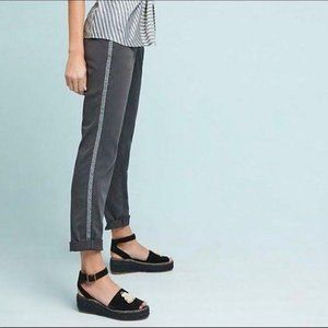 Anthropologie Relaxed Striped Chino Trouser Pants